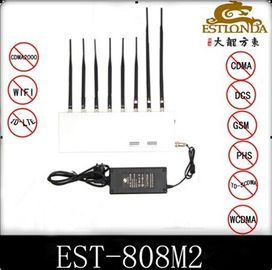 الصين Indoor 34dBm 8 Antennas Cell Phone Signal interrupter For School مصنع