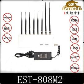 الصين 34dbm GPS Signal Jammer Wifi / 4G Signal Blocker with 8 Antennas مصنع